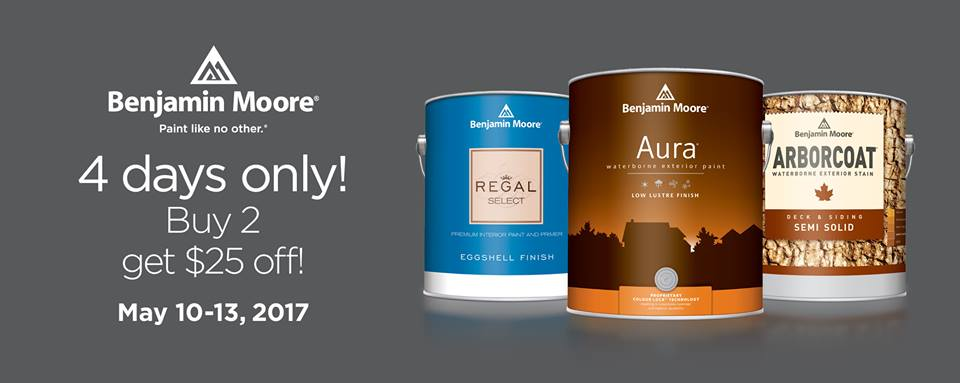 Benjamin Moore Buy 2 Get $25 Off Sale