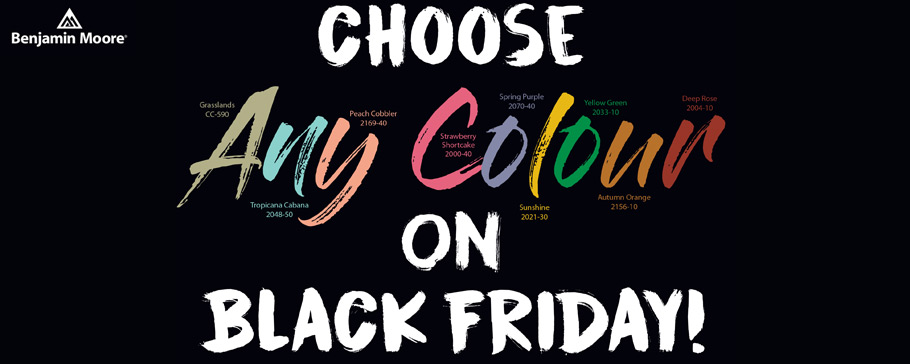Choose Any Colour on Black Friday Promotion